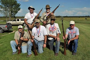 Medal winners in the Vintage Sniper Rifle Match