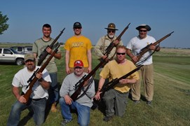 Participants of the CMP Vintage Sniper Match.  Note:  Ryan is shooting an MI-D, the rest are using Springfield 03-A3-A4.